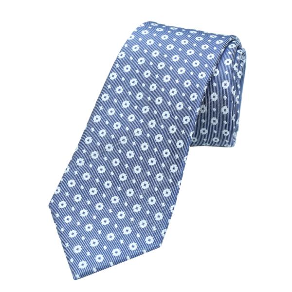 Best-tailor-in-Bangkok-blue-patterned-Thai-silk-tie