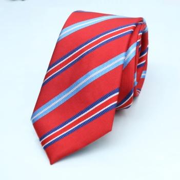 best tailor in bangkok thai silk tie red stripe