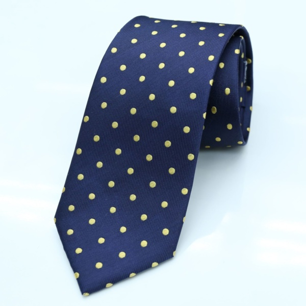 best tailor in Bangkok silk tie blue dotted