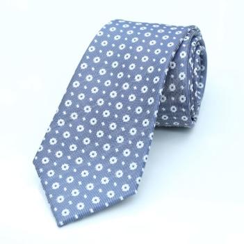 best tailor in Bangkok silk tie blue