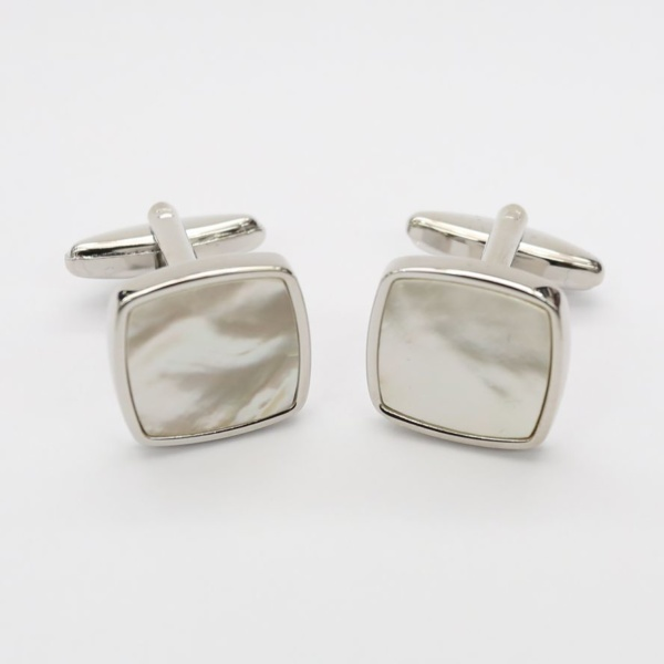 best tailor in bangkok mother of pearls cufflinks white